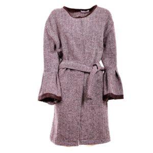 Cappotto in tessuto spigato - Plumilla